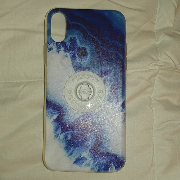 Accessories - Iphone xs case blue marble pattern